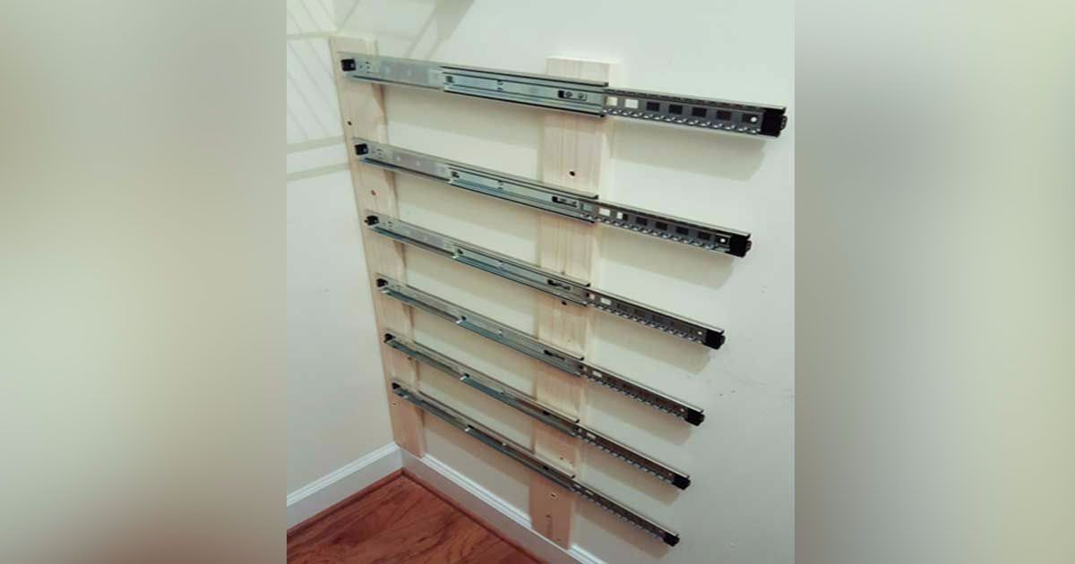 Handyman installs drawer sliders in closet. The final product is beyond awesome